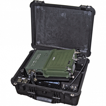 INTEGRATED MULTI-BAND / SATCOM AMPLIFIED CASE FOR PSC-5 OR PRC-117F - ABP-ISC-50RMB2