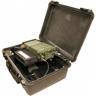 INTEGRATED MULTI-BAND / SATCOM AMPLIFIED CASE FOR PRC-117G - ABP-ISC-50G-RMB2
